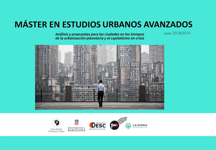 Máster en estudios urbanos avanzados